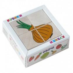 Кубики. Сложи рисунок Овощи 4шт.