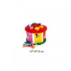 """Куб """"Розумний малюк """" """"Будиночок"""", в кул. 20*12*20см, ТМ Технок, Україна"""