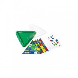 Геометрическая мозаика Gigo с карточками и треугольной основой, 10 эл. (1162)