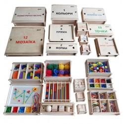 Великий дидактичний набір Фребеля Hega 11 коробок (243-1)