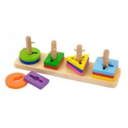 "Головоломка Viga Toys ""Форма и цвет"" (50968)"