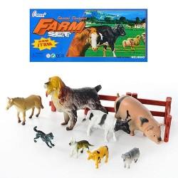 Животные домашние, 5 животн., в пакете 20*9см