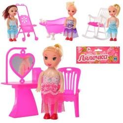 Кукла, 10см, мебель, 4 вида, в пак. 9*10*2,5см (400шт)