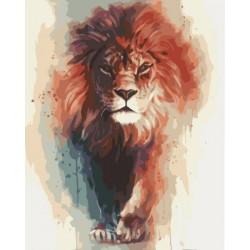 Картина по номерам Животные Лев 40х50 см (KHO4017-mt)