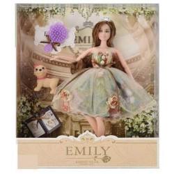 """Кукла """"Emily"""" с питомцем и расческой, в кор. 33*28*6см"""