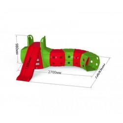 Горка с тоннелем, красно- зеленая Doloni (01470/3)