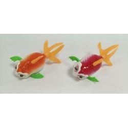 Заводное животное Рыбка 11см, 2 цвета, пак. 12см