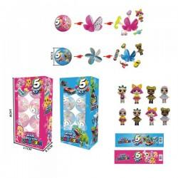 Герои 2 вида, шар состоит из 5 сегментов в каждом игрушка, 8 шаров в блоке, цена