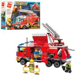 """Конструктор """"Brick"""" 366 дет., пожарная машина, фигурки, в кор.37*27*7см"""