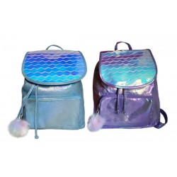 Рюкзак на затяжках 33*28*12см, фиолетово-голубой