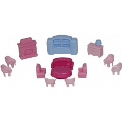 Набор мебели для кукол №4, 13 эл., в пак. 19*12см, ТМ Полесье