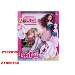Кукла Lofea 28см, с ребенком, коляской и аксес., в кор. 34*9*27см