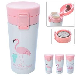"""Стакан-термос """"Фламинго"""" 380мл, в кор. 18*8*8см"""