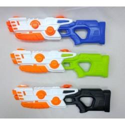 Водный пистолет с насосом, 3 цвета, пак. 58*16*5см