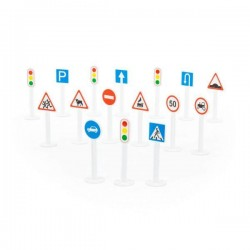 Набор дорожных знаков №1, 16 элементов, в пак. 15*12,5*42см, ТМ Полесье