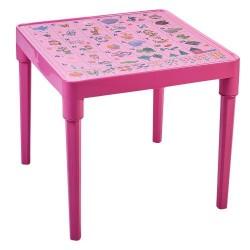 Стол детский , «Алфавит Украинский», розовый, 51*51*47см