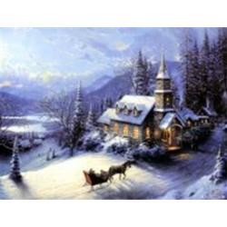 Алмазная мозаика Dreamtoys Встреча Рождества, 30х40 см, с рамкой, в коробке (H8201)
