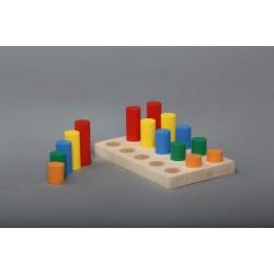Игра - сортер Цветные цилиндры