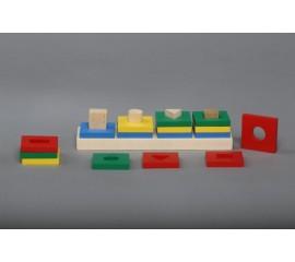 Пирамидки Цветной квартет