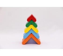 Пирамидка Цветная елочка