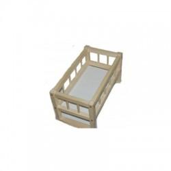 Кроватка деревянная для кукол 26 х39 х24 см, смерека, разобранная Дерево (172016)