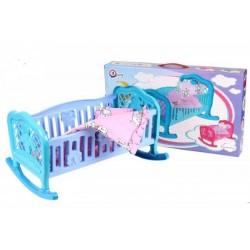 Кроватка для кукол ТехноК Бирюзовая с сиреневым (4524)