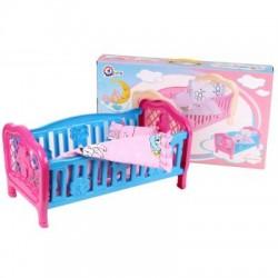 Кроватка для кукол ТехноК Голубая с розовым (4494)