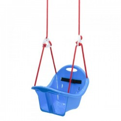 "Качель подвисная ""Лелека"" синяя, 2 шнура по 2м. 4 кроншт. 6 цветов. 2х.уровн. ремни без., ортоп.форма, 32*32*30см MAXIMUS (5377)"