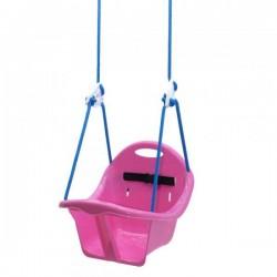 "Качель подвисная ""Лелека"" розовая, 2 шнура по 2м, 4 кроншт. 6 цветов. 2х.уровн. ремни без., ортоп.форма, 32*32*30см MAXIMUS (5381)"