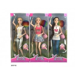 Кукла 29см с аксессуарами, 3 вида, в кор. 32*5*12см
