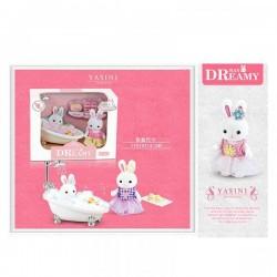 """Игровой набор с флоксовыми животными ванная, """"Happy Family"""", в наборе фигукри, украшения AToys (6621-4)"""