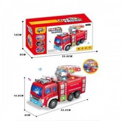 """Машина на батарейках """"Пожарная"""", свет, звук, в кор. 12*9*23,8см  AToys (332-1)"""