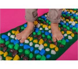 Коврик массажный с цветными камнями 200 х 40 см оптом
