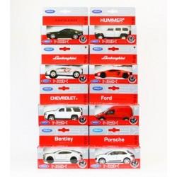 Машин аWelly, USA+EUR, метал., масштаб 1:34-39, в кор. 14*5,5*5,5см