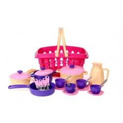 Игровой набор посуды ТехноК в корзинке (4449)