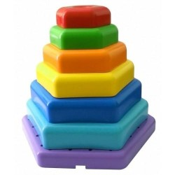 Игрушка развивающая Радужная пирамида 7деталей Wader (39354)