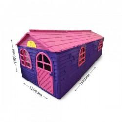 Домик с шторками Doloni 120х256х129 см Розово-сиреневый (02550/20)