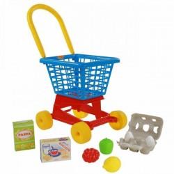 Игровой набор Полесье Тележка Supermarket 1 с набором продуктов №2 (67890)