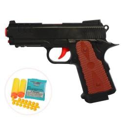 Пистолет 19см, вод. пули, пули-присоски, пульки, в кор. 14*21*4см