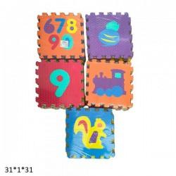 Коврик-пазл EVA 9 элементов, 6 видов AToys (BT-T-0218)