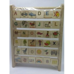 Деревянная игрушка Азбука английского языка ДЕРЕВО (172195)
