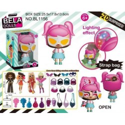Игровой набор кукла Bella Dolls, сумка, в кот. кукла 17,5 см.+сюрпризы: одежда, украшения  AToys (BL1156)