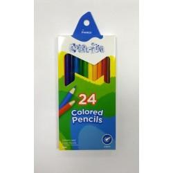 Карандаши Colorite 24 цвета, шестигранные, в кор. 18*9*1,5см, ТМ Marco