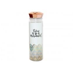 Бутылка для воды с крышкой в форме кристалла розового золота, 550 мл, Born to be a mermaid