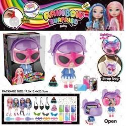 Игровой набор кукла BELA DOLLS SURPRISE сумка в форме fashion dolls, кукла 17,5см+сюрпр.: одежда, украш., аксессуары  AToys (BL1169)
