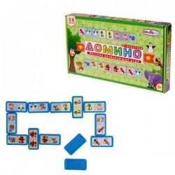Детское Домино «Предметы», пластиковые детали Colorplast (1-091)