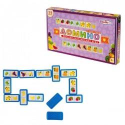 Детское Домино «Фрукты», пластиковые детали Colorplast (1-092)