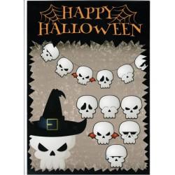 """Гирлянда """"Halloween"""" черепа, в пак. 21,5*31,5см"""